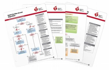ACLS (Advanced Cardiovascular Life Support) Emergency Crash Cart Cards. Package of 4 Cover Image