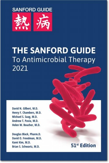 Sanford Guide to Antimicrobial Therapy 2021. Large Print Library Edition Cover Image
