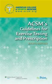 ACSMs Guidelines for Exercise Testing and Prescription. Text with Internet Access Code for thePoint Cover Image