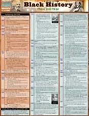 Black History: Pre-Civil War Laminated Reference Chart