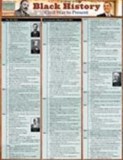 Black History: Civil War To Present Laminated Reference Chart