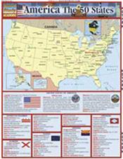 America The 50 States Laminated Reference Chart