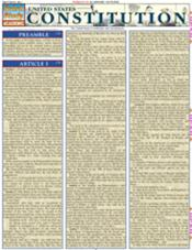U.S. Constitution Laminated Reference Chart