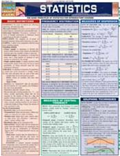 Statistics: Parameters, Variables, Intervals, Proportions Laminated Reference Chart
