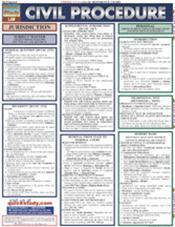 Civil Procedure Laminated Reference Chart