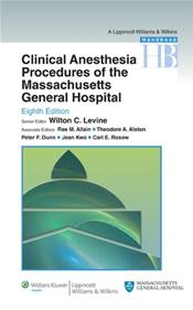 Handbook of Clinical Anesthesia Procedures of the Massachusetts General Hospital Cover Image