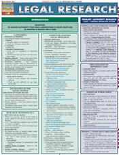 Legal Research Laminated Reference Chart