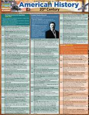 American History 20Th Century Laminated Reference Chart