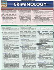 Criminology Laminated Reference Chart
