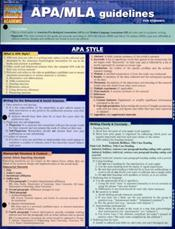APA/MLA Guidelines Laminated Reference Chart