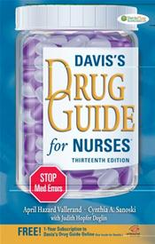 Davis' Drug Guide for Nurses. Text with Internet Access Code