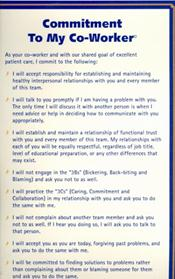 "Health Care Administration >> MatthewsBooks.com - () : Commitment to My Co-workers Health Care Large Card. Laminated 9.5"" x 17 ..."