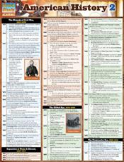 American History 2 Laminated Reference Chart