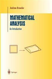Mathemeatical Analysis: An Introduction