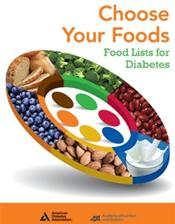 Choose Your Foods: Food Lists for Diabetes. Single copy