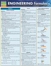 Engineering Formulas Laminated Reference Chart