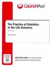 eBook LaunchPad for Moore's The Practice of Statistics in the Life Sciences. 12 Month Access