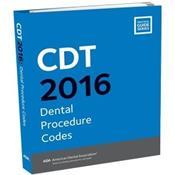 CDT 2016 Dental Procedure Codes. Text with Flashdrive