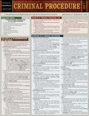 Criminal Procedure Laminated Reference Chart
