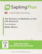 Sapling Plus for the Practice of Statistics in the Life Sciences. Six Month Access