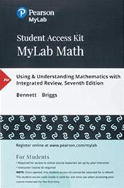 Using and Understanding Math and MyLab Math Access Code. 6 Months Access