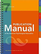 Publication Manual of the American Psychological Association (2nd Printing) Image