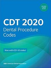 CDT 2020 Dental Procedure Codes