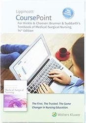 Lippincott CoursePoint 4.0 Enhanced for Hinckle & Cheever: Brunner & Suddarths Textbook of Medical- Surgical Nursing. Access Code Cover Image