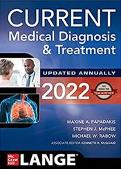 Current Medical Diagnosis and Treatment 2022 Cover Image