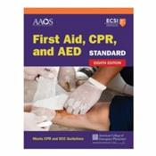 First Aid, CPR, and AED. Standard Edition Cover Image