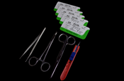 Suture Instrument Kit (Tools & 5 Sutures) Image