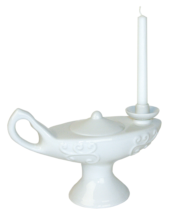 Traditional Nursing Graduation Lamp With Candle Image