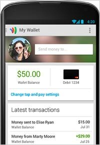 Google Wallet Doubles As Mobile Bank 09/18/2013