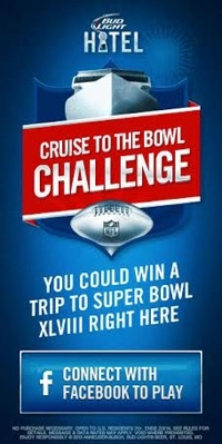 Bud Light Challenges Football Fans 01/15/2014