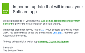 Softcard Mobile Payments Closing, Shutting Down Accounts