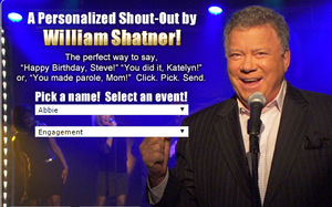 William Shatner: Actor, Horseman And (Now) Greeting Card