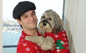 mars petcares cesar brand is enlisting celebrities and their dogs to wear matching holiday sweaters