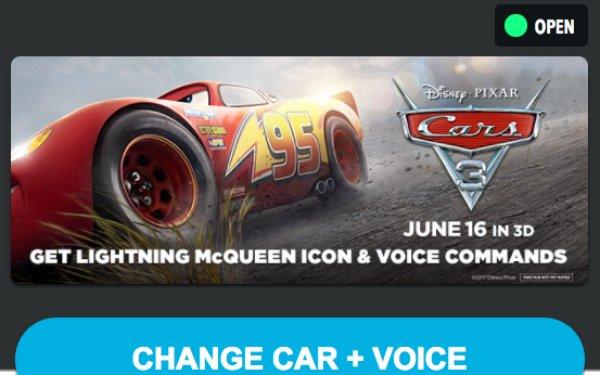 Disney Brings 'Cars 3' Personality To Waze 05/10/2017
