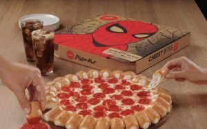 pizza hut spider man tie ins include tv ad movie integration 06