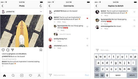 Instagram adds comment threads, hopes you