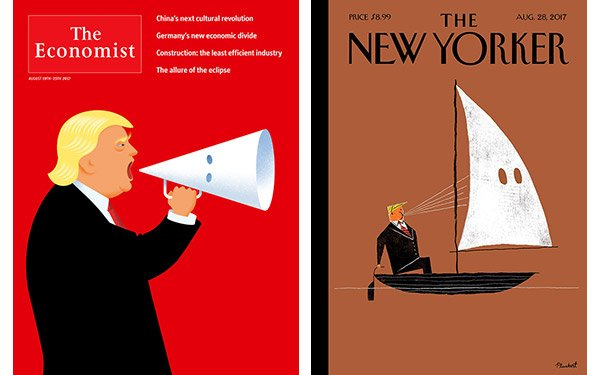 Cover Story: 'New Yorker,' 'Economist' Break Out Klan Robes For