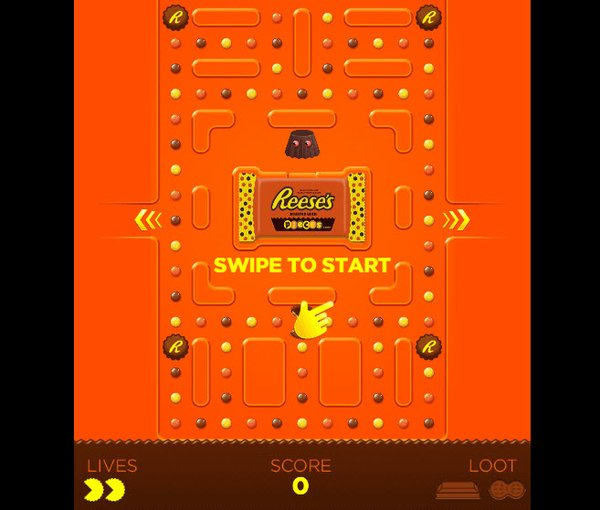 Reeses Offers Pac Man Themed Game On Snapchat 09282017