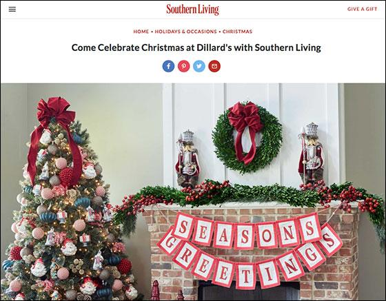 southern living is collaborating with department store dillards to host a day of christmas events this december in 263 stores