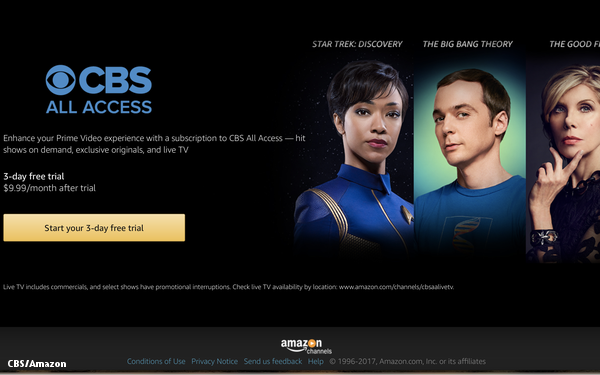 Ad-Supported Tier Of CBS All Access Launches On Amazon