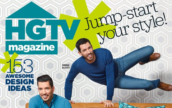 HGTV Magazine' Experiments With Property Brothers Cover 02