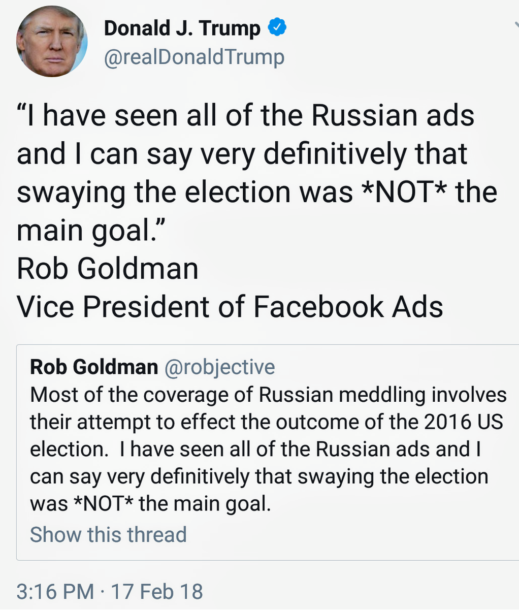 Did Fake News On Facebook Win Trump The Election That S: Trump Sources Facebook Ad Exec As Proof Russia Didn't