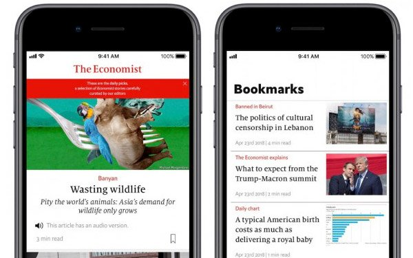 The Economist' Introduces New App For Subscribers 05/14/2018
