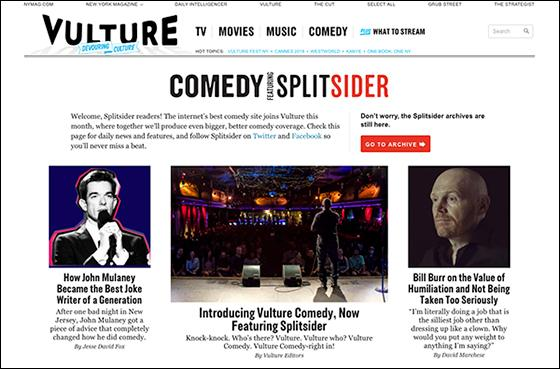 New York' Launches 'Vulture Comedy' Vertical, Follows