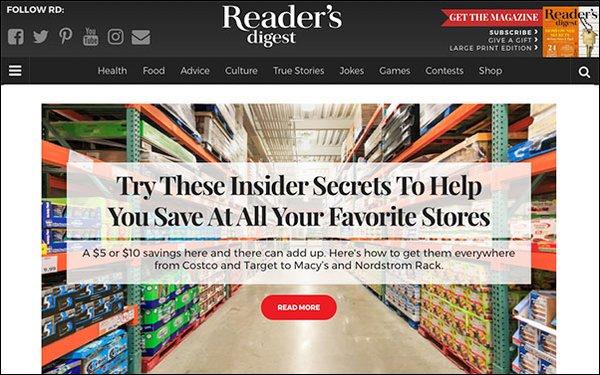 Readers Digest Gratisverlosung 2018: 'Reader's Digest' Site Doubles Audience 06/12/2018