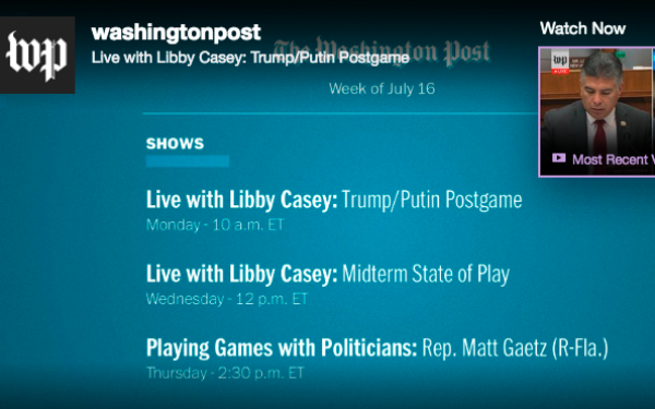 Democracy Lives In The Twitchsphere: WaPo Launches